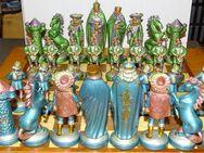 Schach Schachspiel Zinn Figuren Mittelalter Reinzinn Handbemalt - Spraitbach