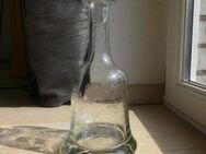 Glas Karaffe Glockenblumen Gravur Glasstopfen Flasche Vintage 15,- - Flensburg