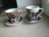 2 Porzellan Tassen Hunde Fototassen Kaffeetassen zus. 4,- - Flensburg