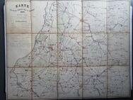 Karte Manöver-Terrain der 28. Division 1881 Karlsruhe Pforzheim Bretten Rastatt Ettlingen Bruchsal - Königsbach-Stein