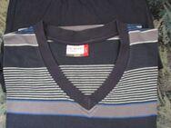 Schlafanzug-Shorty (Gr.52/54) Dunkelblau mit Quer-Streifen - Weichs