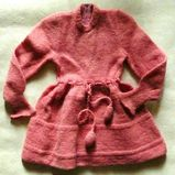 50er Jahre Mädchen/Puppenkleid, gestrickt, Handarbeit