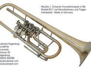 Scherzer Konzerttrompete, Modell 8211 Goldmessing lackiert. NEUWARE