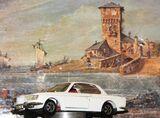 BMW 2000 CS Modellauto von Märklin 1:43 weiss/beige