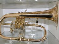 Antoine Courtois Flügelhorn, Modell 154 R, Goldmessing mit Trigger inkl. Koffer