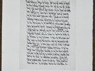 Faximile 3 Drucke von Manuskriptseiten - Kiel Ellerbek