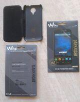 1 original  Flip cover Schutzhülle + 1 Displayschutzfolie für WIKO DARKNIGHT, unbenutzt