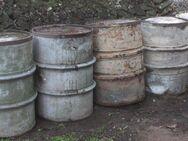 4 stabile Metallfässer mit Umreifung, Feuertonne, Wassertonne - Bad Belzig