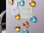 5 Stück süsse Emoji Magnete Gesichtsausdrücke - Reinheim
