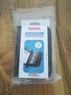 Hama Speicherkarten-Tasche für 18 SD-/MMC-Speicherkarten, Schwarz - Hamm