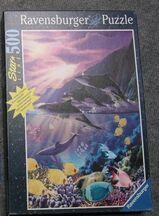 Star Line 500 Ravensburger Puzzle Abendidylle Delfine (Orcas)