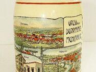 Krug, Bierkrug, Andenkenkrug, Mühlacker, Dürrmenz, Ansicht um 1900 - Königsbach-Stein