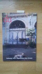 du Nr. 4/1996 (Monatsschrift für Kultur) LEITTHEMA: Bedienung, bitte! Tragikomödien eines Verlusts – 1. April 1996