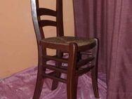 Wunderschöner Spätbiedermeier Stuhl / Holzstuhl mit Korbgeflecht - Zeuthen