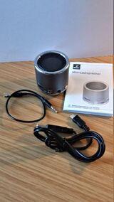 Mini-Lautsprecher, dunkeltürkis verchromt mit LI- Akku