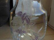 Zwiesel Bleikristall Glas Vase mit Blumen-Dekor 20 cm Deko Vintage 5,- - Flensburg