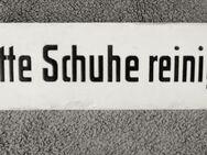 """Emaille - Schild  """"Bitte Schuhe reinigen"""" - Wangen (Allgäu)"""