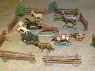 Zinnfiguren alt Tiere Bauernhof für Setzkasten Sammler Museum 20tlg - Spraitbach