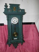 Antike Wanduhr / Pendule um 1900 / Wandregulator Jugendstil / Restauration