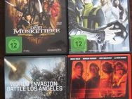 4  DVD`S, Red, X-Men, Battle Los Angeles,Die drei Musketiere - Baunatal Zentrum