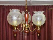 Schöne dreiarmige Deckenlampe / Hängelampe mit Glasschirme - Zeuthen