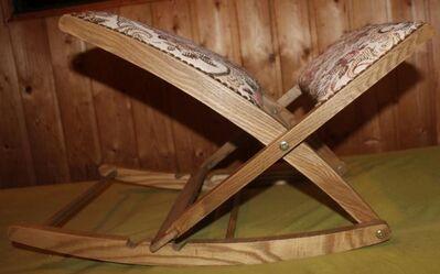 gepolsterte Fußstütze verstellbar, Beinauflage, Fußbank, zusammen klappbare Beinschaukel, Fußhocker - Bad Belzig