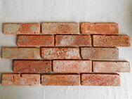 Winterspecial rustikale Antikriemchen rote Klinker Riemchen Retro Wand alte Ziegel Verblender used Look Loftoptik Steinwand Wandpaneele Fliesen - Salzatal