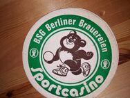BSG Berliner Brauereien Sportcasino BD Bierdeckel - Nürnberg