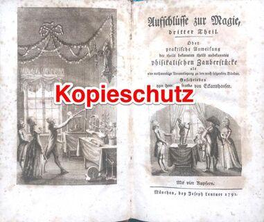 """Antiquität Buch """"Aufschlüsse zur Magie"""" dritter Theil - Seefeld (Bayern)"""