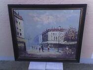 """Wandbild  Motiv """"Stadtleben"""", 69 x 59 cm, mit Holzrahmen - Simbach (Inn)"""