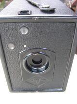Agfa Box Kamera 6x9 Rollfilm Box mit Ledertasche