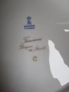 """Zier-Wandteller """"Träumerei"""", K. Nossek- Kaiser-Porzellan (siehe Foto) - Hamm"""