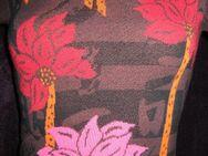 """NEU mit ETIKETT * Blumen * Blüten * Flower- Power * Kurzarm * Feinstrick * V- Ausschnitt * Pullover """"KENZO JEANS"""" Original * Gr. 34- 36/ XS- S * braun * bunt * - Riedlingen"""