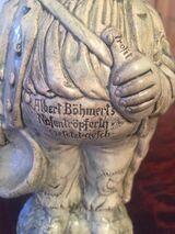 figürliche Keramik Schnapsflasche A.Böhmert