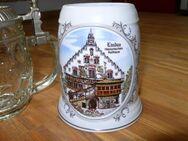22 St. alte Bierkrüge mit Zinndeckel Bierseidel - Lindenberg (Allgäu) Zentrum