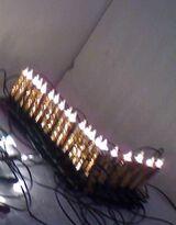 Lichter-Kerzen-Kette für innen, noch unbenutzt