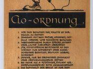 Scherzschild - Clo-Ordnung