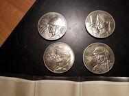 20 Jahre Nationale Volksarmee , 4 Gedenk Medaillen, TOP** - Neubrandenburg