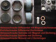 Zubehörset für Getriebeöl- ( Schalter ); Differentialöl- und Motorölwechsel - Reiniger und Ablass-/ Einfüllschrauben - für angebotenes großes Servicepaket I für Mercedes Benz W201 190 div. - Sickte