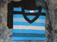 Herren Schlafanzug-Shorty (Gr. 52/54) Schwarz, Blau, Grau, gestreift - Weichs