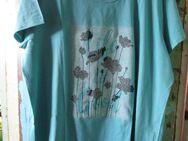 Damen T-Shirt mit runden Ausschnitt (Gr.XXL ) Grün, Blumen Life is Good - Weichs