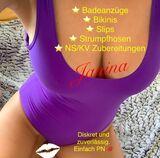 Sexy getragener lila Badeanzug - Fetisch Duft, veredelte Bademoden