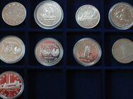 10 Kanadische Silberdollar 1935 -1984 + Münzbox - Flensburg