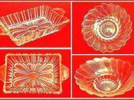 2 schöne Glasschalen 1x rund Ø13,5 H 3,5cm+1x eckig 17x9,5x3cm - Nürnberg