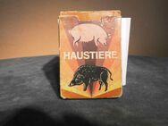 DDR Quartettspiel mit Peterkarte Haustiere / ab 8 Jahre, Pössneck Verlag 1980 - Zeuthen