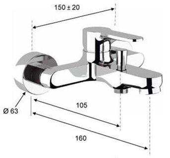 TOPANGEBOT SET: Waschtischarmatur mit Zugstangenablaufgarnitur, Badewannenarmatur und Duschgarnitur - Fischingen