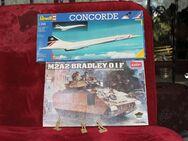 2x Modell Bausätze Revell Flieger Concorde + Academy Panzer Bradley - Hennef (Sieg) Zentrum
