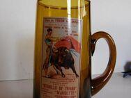 Bierkrug aus Glas aus Spanien - Wilnsdorf