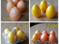 Kerzen, orange+gelb, Ostern, Deko - Immenhausen