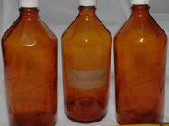 """alte Flaschen """"Freundorfer"""", Chemikalienflaschen, Apothekerflaschen, Enghalsflaschen Schraubverschl. - Flensburg"""
